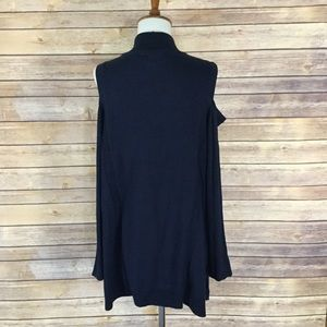 Style & Co Sweaters - Cold shoulder dark blue sweater